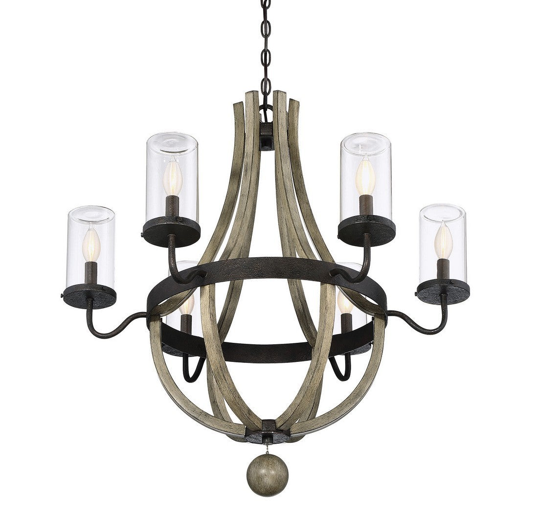 Eden 6 lightOutdoor Chandelier - Graham's Lighting Memphis, TN