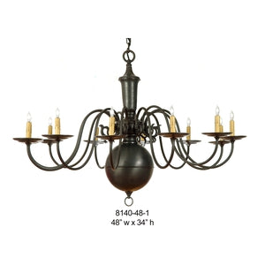 Brass Chandelier - 8140-48-1Chandelier - Graham's Lighting Memphis, TN