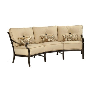Monterey Cushioned Crescent SofaDeep Seating - Graham's Lighting Memphis, TN