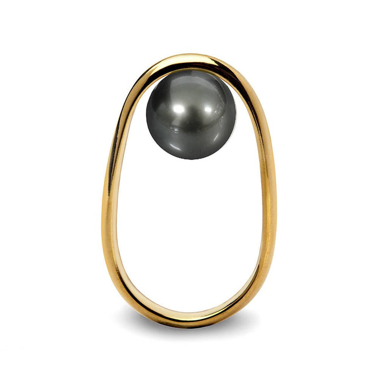 Overturn Tahitian Pearl Gold Ring