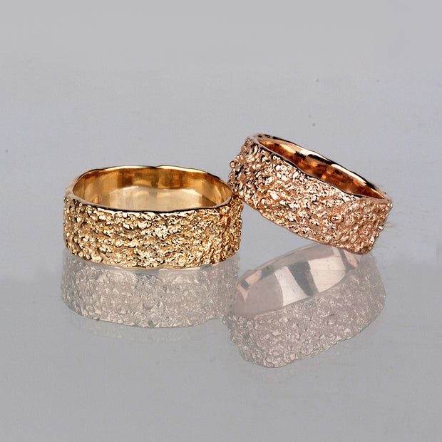 Antico Rose Gold Wedding Band Ring