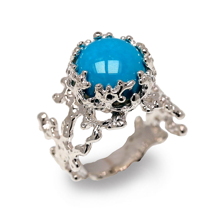 Coral Turquoise Ring