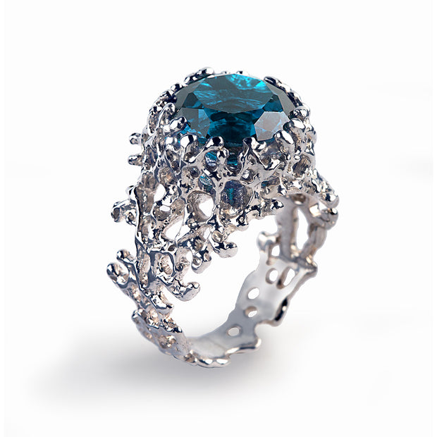 Coral London Blue Topaz Ring