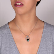 Coral Black Pearl Pendant Necklace