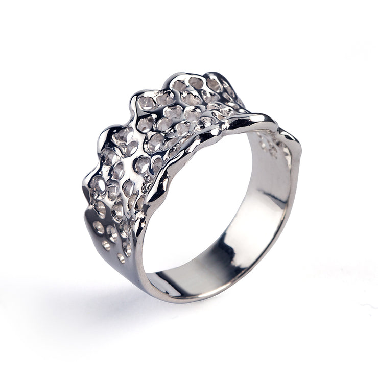 Filigree Lace Wedding Band Ring