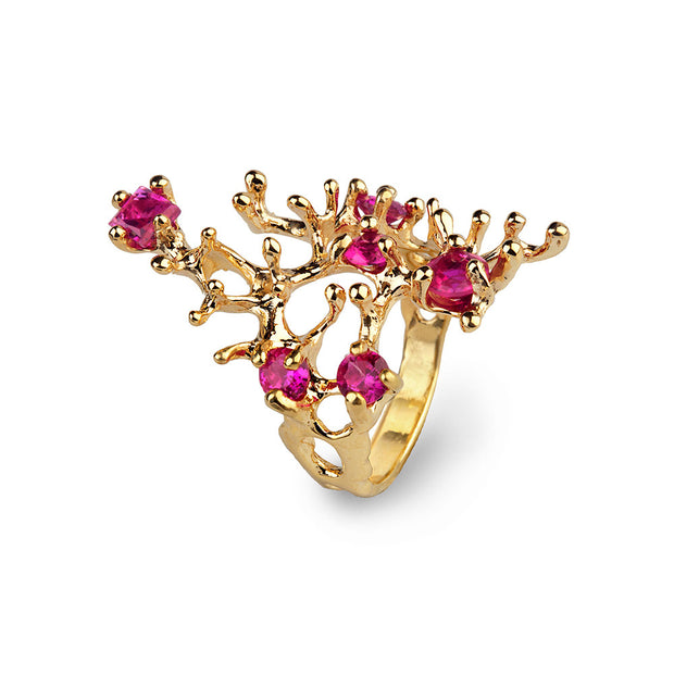 Reef Ruby Gold Ring