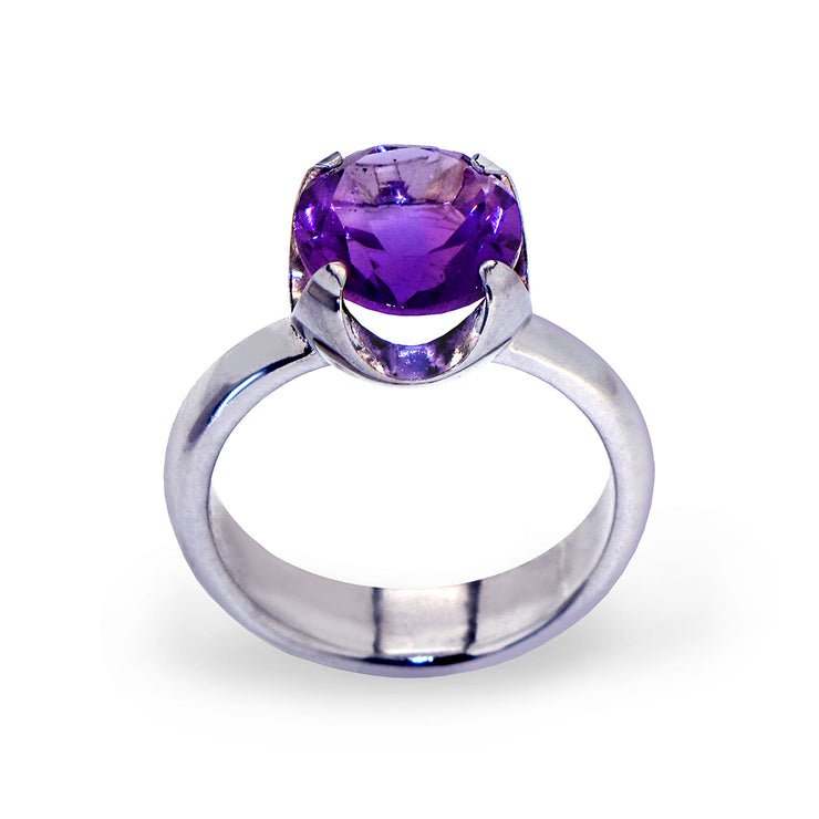 Cup Amethyst Ring