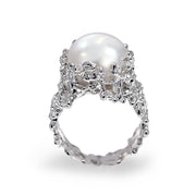 Coral White Pearl Ring