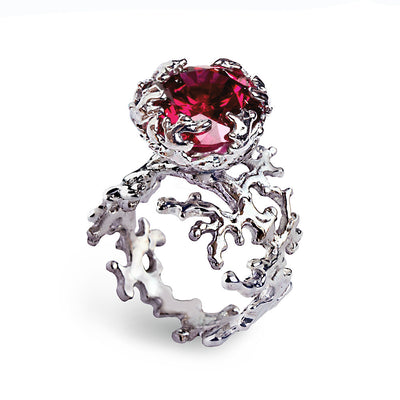 Coral Ruby Ring
