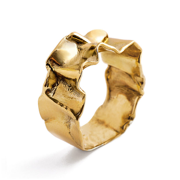 Crumpled Gold Ring