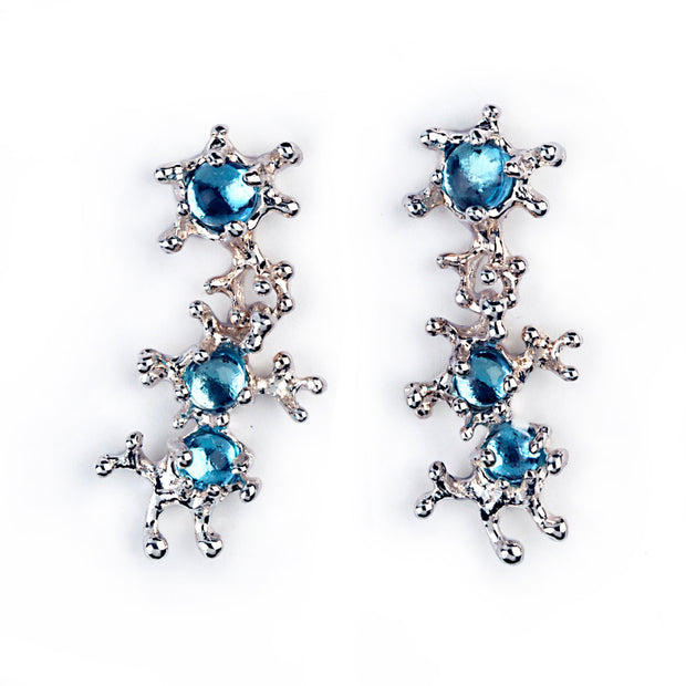 Between The Seaweeds Blue Topaz Earrings