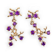 Reef Amethyst Gold Earrings