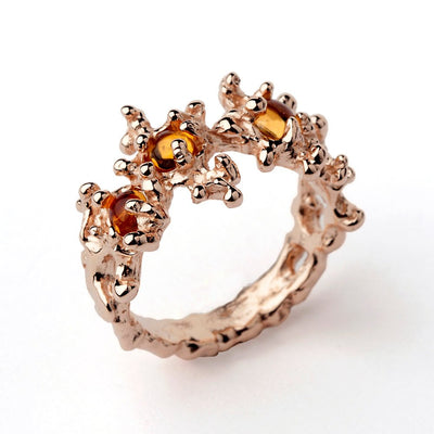 Between the Seaweeds Citrine Rose Gold Ring