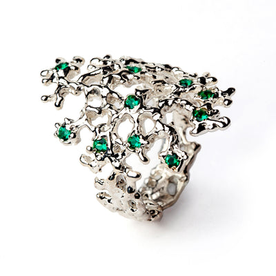 Sea Spray Emerald Ring