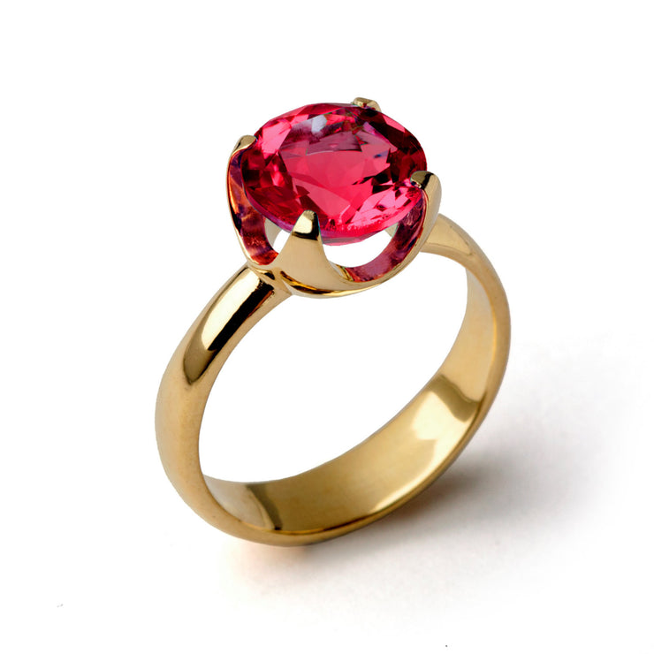 Cup Ruby Gold Ring