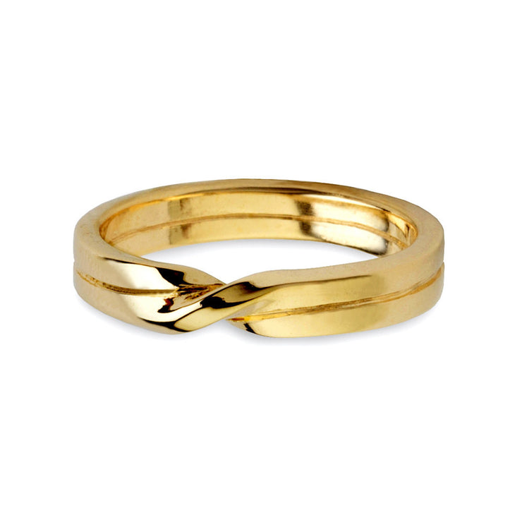 Love Knot Gold Wedding Band Ring