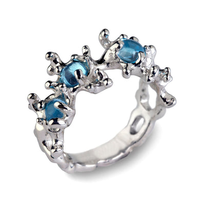 Between the Seaweeds Blue Topaz Ring