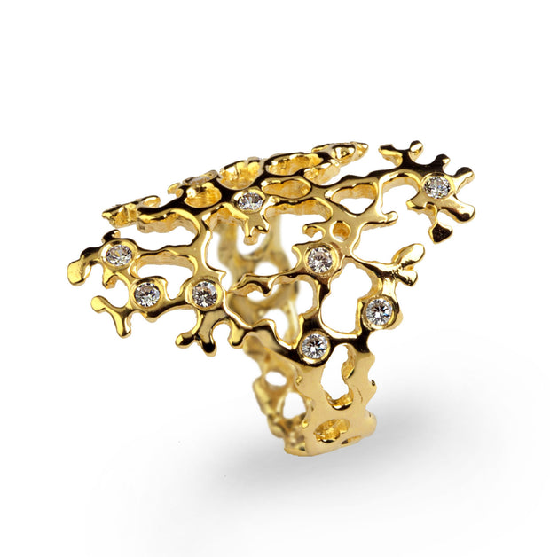 Sea Spray Sleek Gold Ring