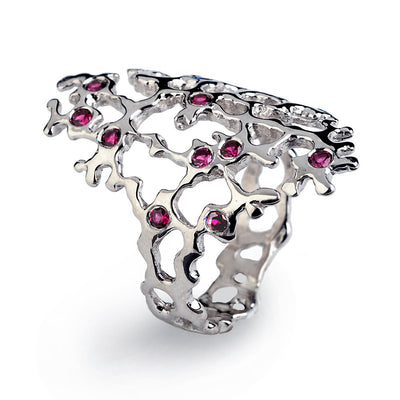 Sea Spray Sleek Ruby Ring