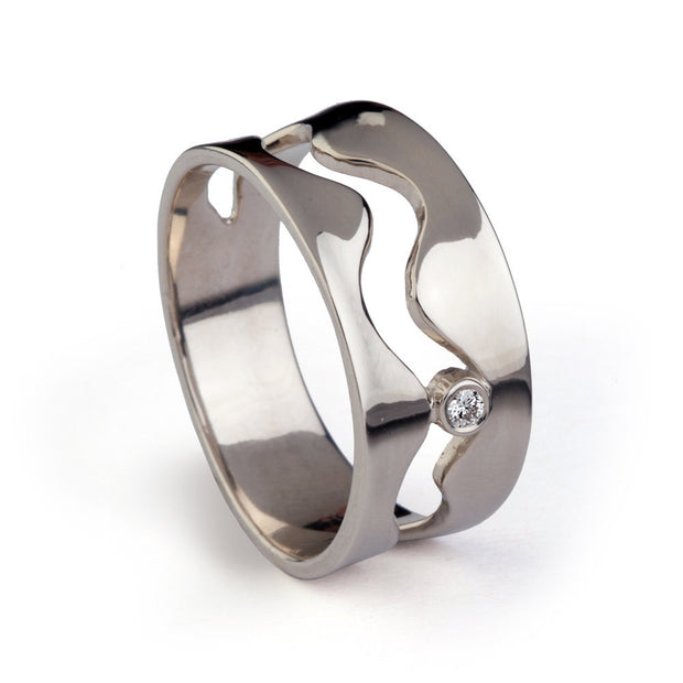 Wave Wedding Band Ring