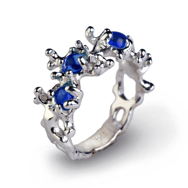 Between the Seaweeds Blue Sapphire Ring