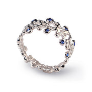 Lace Blue Sapphire Wedding Band