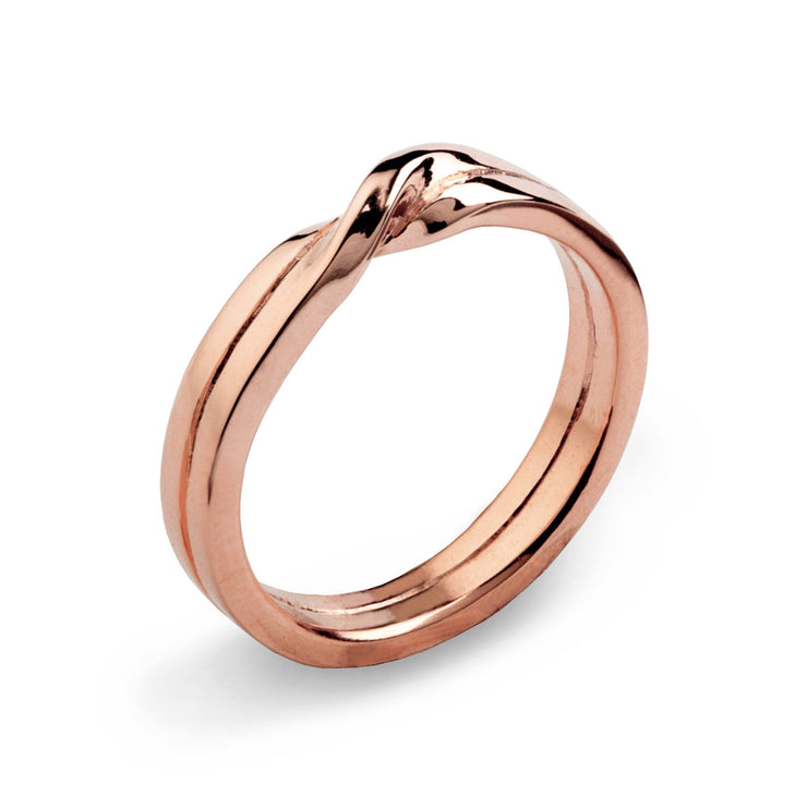 Love Knot Rose Gold Wedding Band Ring