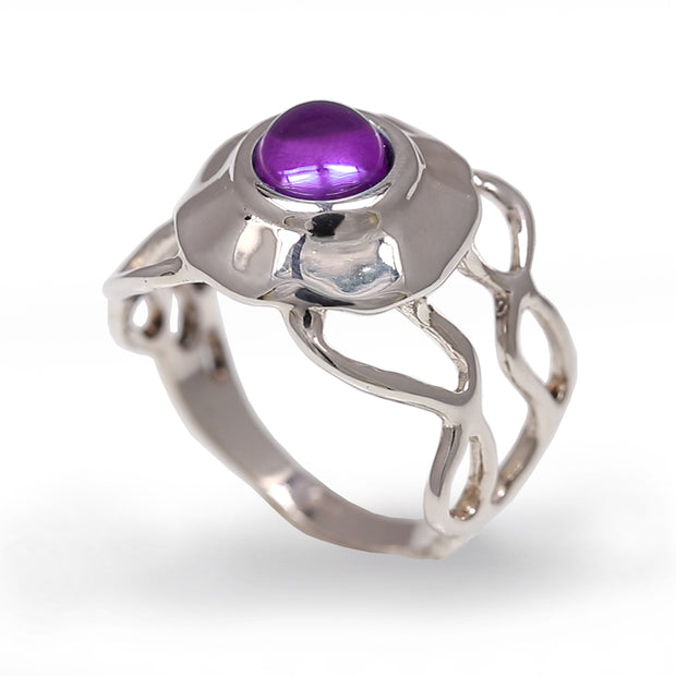 Medusa Jellyfish Amethyst Ring