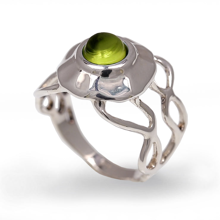 Medusa Jellyfish Peridot Ring