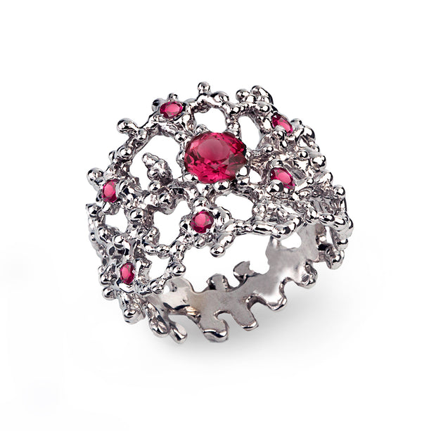 Coral Ruby Band Ring