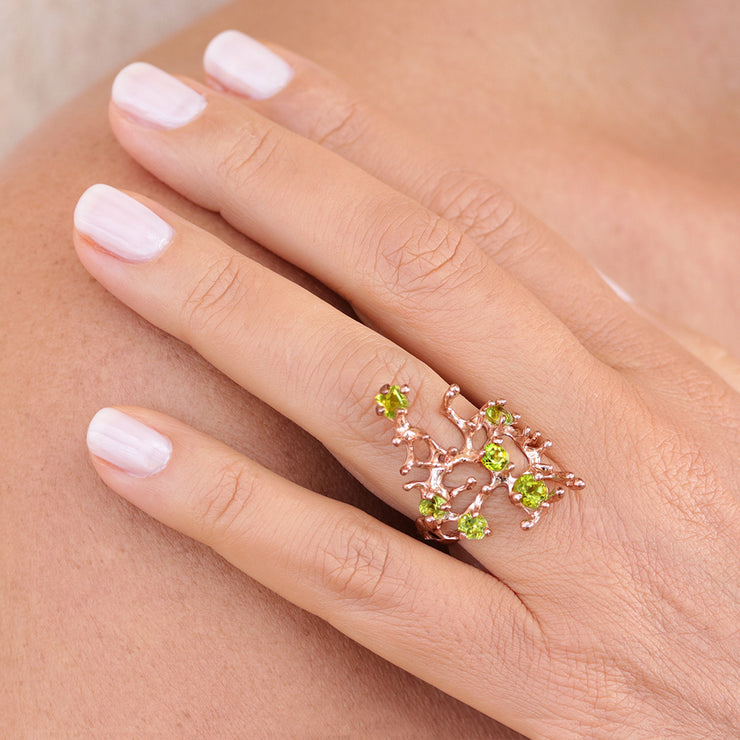 Reef Peridot Rose Gold Ring