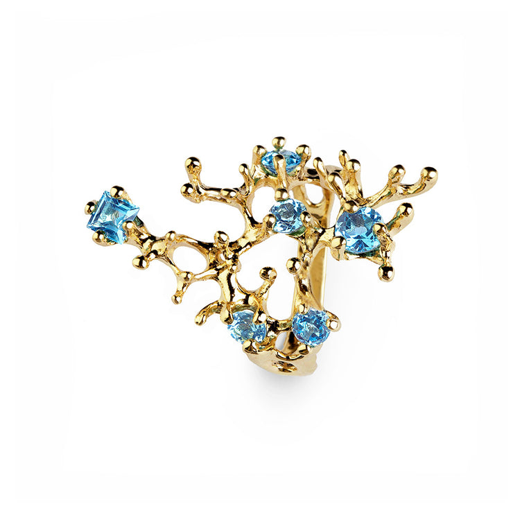 Reef Blue Topaz Gold Ring