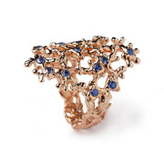 Sea Spray Sapphire Rose Gold Ring