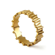 Tempo Gold Wedding Band Ring