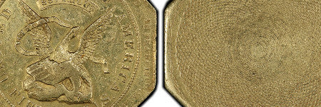 1852 California gold bullion coin achieves $150,000