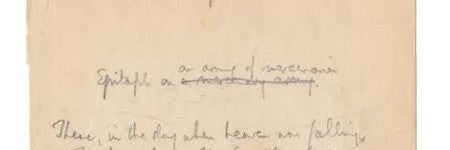 AE Housman handwritten poem could make $24,000 at Bonhams