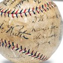 Babe Ruth signed baseball hammers for $250,500 in New York