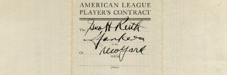 Babe Ruth's final contract brings $278,500 to Goldin Auctions