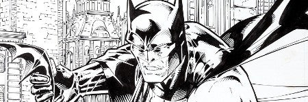 Batman Black and White cover art to see top bids at Heritage Auctions
