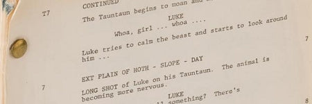 Carrie Fisher's Star Wars script makes $54,000