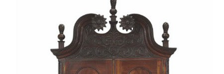 Chippendale carved cherrywood desk achieves 10% increase