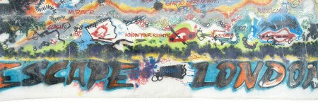 Clash stage backdrop by graffiti artist Futura 2000 at $47,000