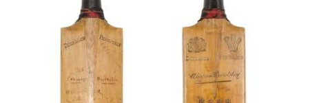 Don Bradman's first test bat to sell for $93,500 in Aussie auction