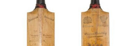 Don Bradman's first bat hits $68,000 in Mossgreen auction
