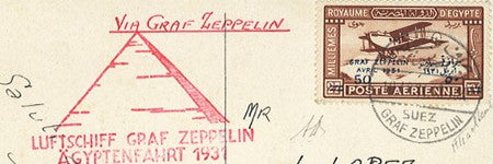 Egypt Zeppelin airmail highlights at Cherrystone Auctions