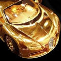 Unique Item of the Week... The £2m gold 'toy' Bugatti Veyron car