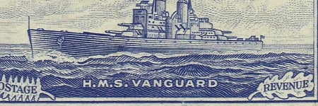 NZ 1949 HMS Vanguard stamp to auction for $35,000?