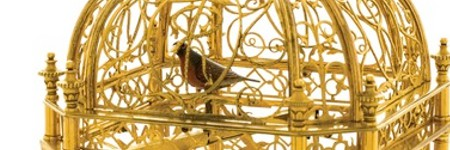 Singing bird cage clock could sell to the tune of $414,500