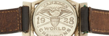 Lou Gehrig's 1928 Yankees watch up 29.8% pa