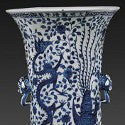 Beautiful Ming dynasty 'palace vase' leads smashing Oriental pottery auction